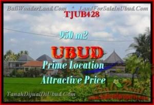 Magnificent UBUD BALI 950 m2 LAND FOR SALE TJUB428