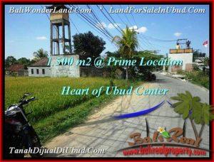 Magnificent PROPERTY 1,500 m2 LAND SALE IN Sentral Ubud TJUB508